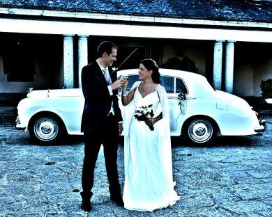 Brindis recién casados finca