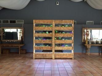 Jardín Vertical madera finca el tomillar